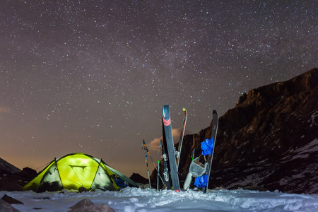 recreational area: night camping under the stars Mountains