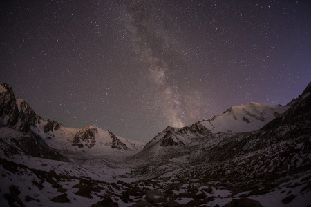 Majestic Milky Way in the mountains photo