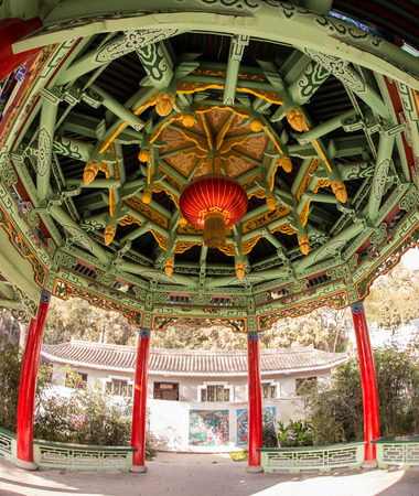 city park pavilion: Chinese pavilion in the city park