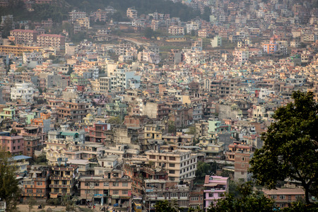 ecological disaster: View of the big dirty city - ecological disaster Stock Photo