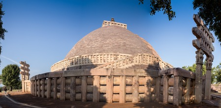 sanchi: Ancient Great Stupa in Sanchi, in the India
