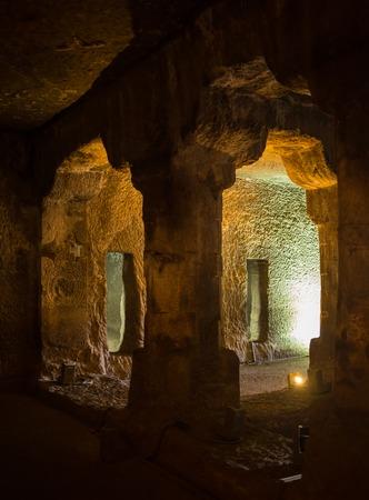 divinity: Forgotten underground hindu temple in the India Stock Photo