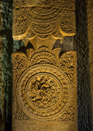 carved stone: Carved stone decoration in the Indian temple