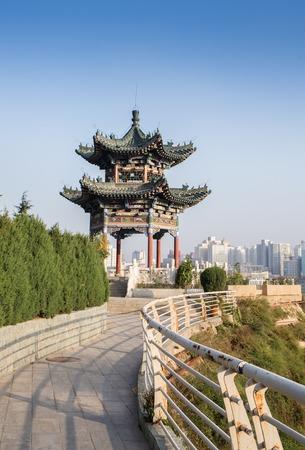 city park pavilion: Chinese pavilion in the china  city park
