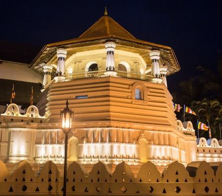 kandy: Temple of the Tooth, Kandy, Sri Lanka Stock Photo