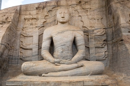 medeival: Buddha in Polonnaruwa temple - medieval capital of Ceylon,UNESCO World Heritage Site