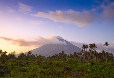 volcanic landscape: the most beautiful, Vulcano Mount Mayon in the Philippines