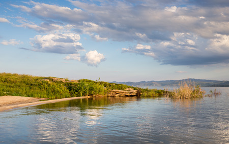 nice: Nice landscape with sunset on lake Barabay