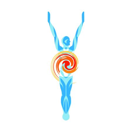 salud y deporte: silueta del cuerpo humano en la búsqueda de la alta sociedad