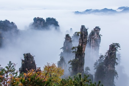 Huangshan Yellow Mountains, a mountain range in southern Anhui province in eastern China.