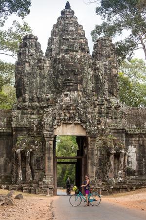 siam: Contemplating monk, Angkor Wat, Siam Reap, Cambodia