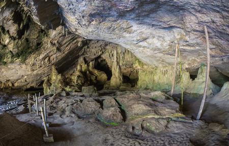 The cave. Magnificent view of the Devetaki cave, Bulgaria Stock Photo