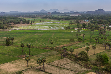 Golf course in the countryside in Mianmar Imagens