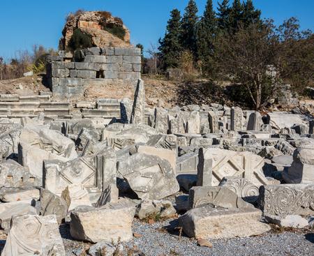 Ruins of ancient Greek, Antalya, Turkey