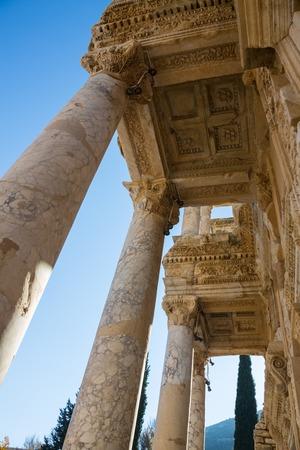 Selcuk, Izmir - Turkey. 25 November 2014. Celsus Library. The Ancient City of Ephesus in Selcuk, Izmir - Turkey Stock Photo