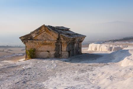Hierapolis antique tomb in Pamukkale, Denizli, Turkey Stock Photo
