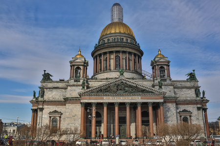 Saint Isaacs Cathedral or Isaakievskiy Sobor in Saint Petersburg, Russia is the largest Russian Orthodox cathedral sobor in the city. It is the largest orthodox basilica.