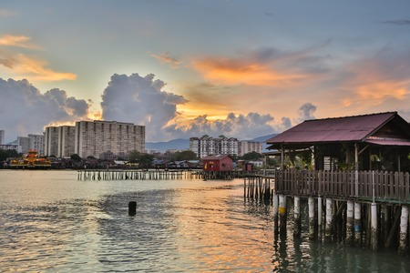 Fishing village at Crab Island, selangor Malaysia