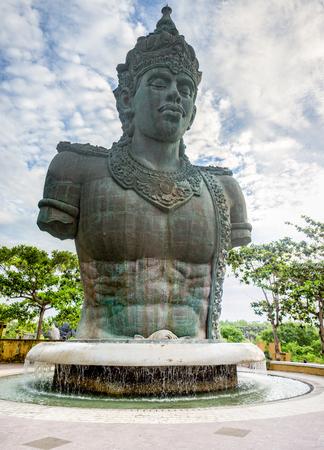 a huge statue of Vishnu in Bali