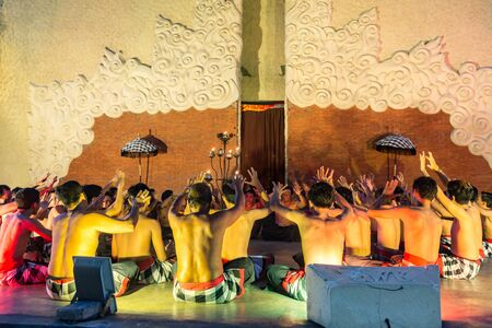 UBUD, BALI, INDONESIA - Desember, 12: Legong traditional Balinese dance in Ubud, Bali, Indonesia on Desemder, 12, 2017 Editorial