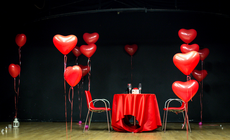 Romantic date night concept. Love, and valentines background concept.
