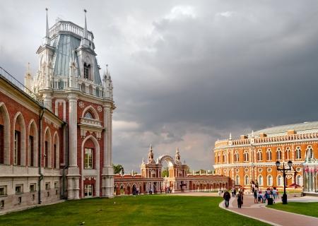 tsaritsino: Pseudo-gothic palace in Tsaritsino, Moscow