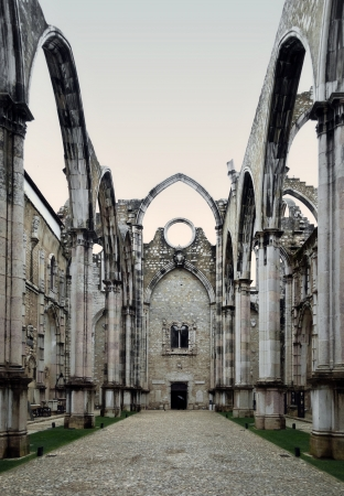 The mediaeval convent was ruined in the 1755 Lisbon Earthquake. Stock Photo - 17183797