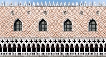 Naadloze textuur van het Palazzo Ducale (Dogenpaleis) in Venetië, Italië