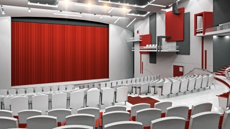 Theatre interior, russian avant-garde style  photo