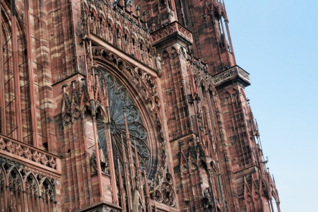 Fragment view of the Strasbourg Cathedral photo