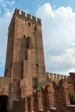 Tower of the Castelvecchio  Castelvecchio is a castle in Verona, northern Italy  It is the most important military construction of the Scaliger dynasty that ruled the city in the Middle Ages