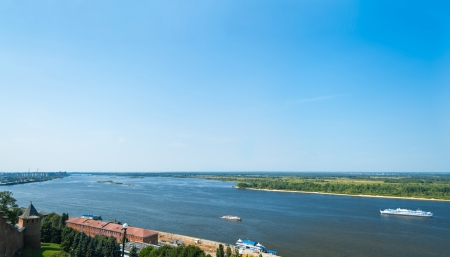 The Volga at Nizhny Novgorod  The Volga is the longest river in Europe; it is also Europe photo