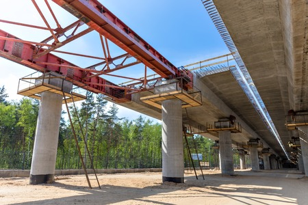 incremental: Road construction by incremental launching method in Moscow  Russia