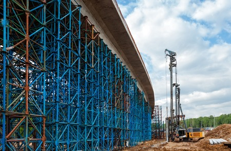 scaffolds: Scaffolds for the elevated road