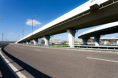 Elevated roads at sunny day Standard-Bild