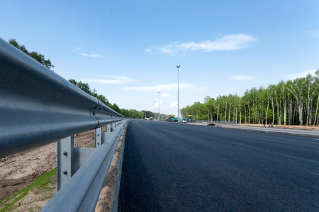 impingement: Road impingement on the empty new road Stock Photo
