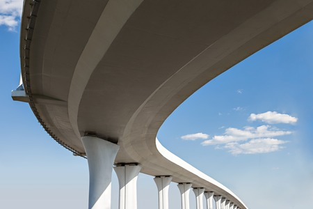 Underside of an elevated roads Stockfoto