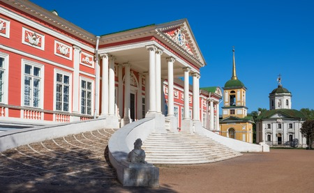 kuskovo: Staircase with the sphinx in the Kuskovo palace, Russia Editorial