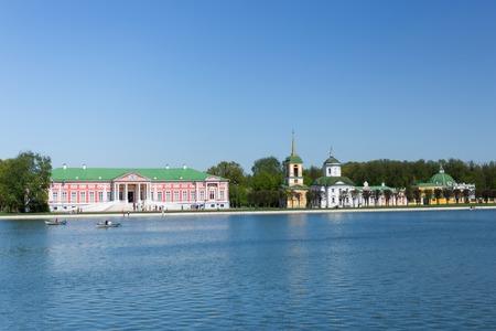 kuskovo: Palace and church at the museum-estate Kuskovo, Russia Editorial