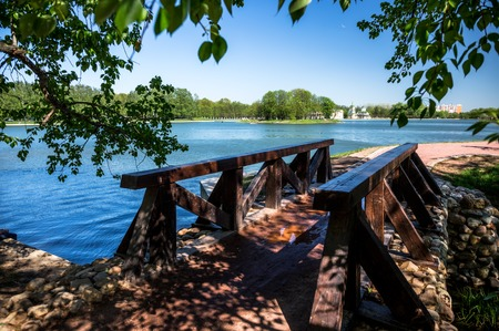 kuskovo: The bridge in Kuskovo park in Moscow, Russia Stock Photo