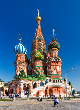 vasily: MOSCOW - MAY 18: The Cathedral of Vasily the Blessed on May 18, 2014 in Moscow. The Cathedral of Vasily the Blessed, commonly known as Saint Basil
