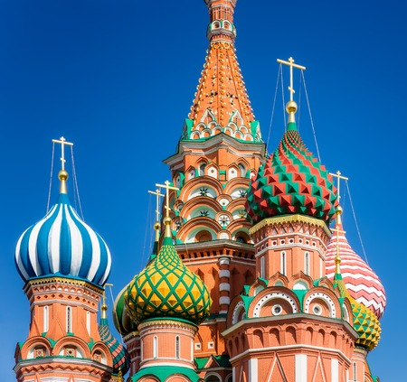vasily: The Cathedral of Vasily the Blessed, commonly known as Saint Basil Stock Photo