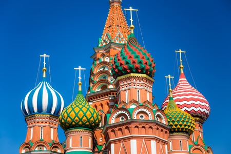 known: The Cathedral of Vasily the Blessed, commonly known as Saint Basil Stock Photo