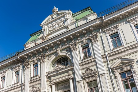 neoclassic: Beautiful neoclassic facade of the house on Iliynka street in Moscow old town, Russia
