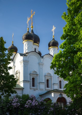 vladimir: Church of St. Vladimir Equal-to-the-Apostles-in the Old Gardens in Moscow Stock Photo