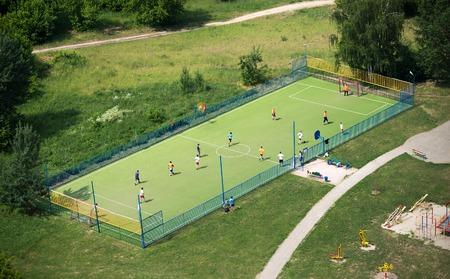 futbol soccer: Mini football playground with players