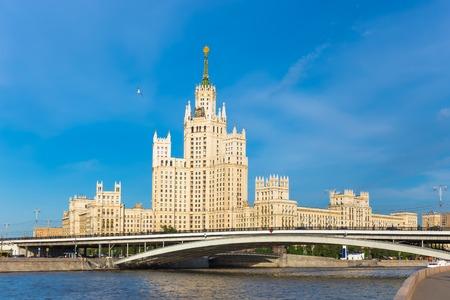 kotelnicheskaya embankment: The stalinist skyscraper on the Kotelnicheskaya embankment in Moscow, Russia Stock Photo