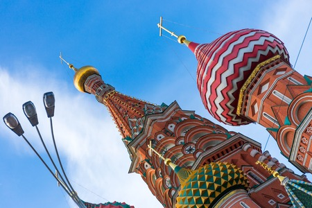 cupolas: Cupolas of the Saint Basil`s orthodox cathedral in Moscow, Russia