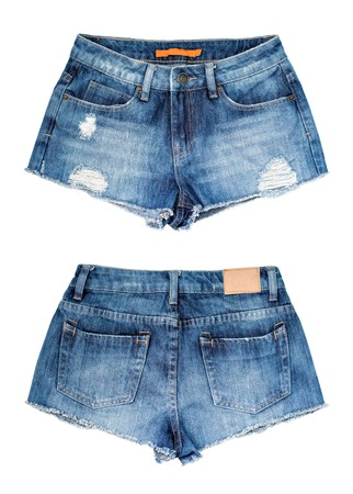 Shorts isolated on the white background Standard-Bild
