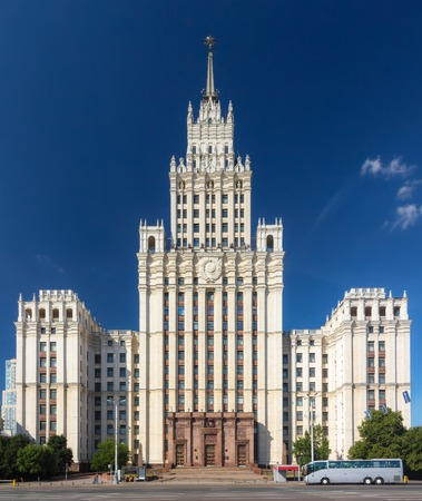 stalin empire style: The Red Gate Building is one of seven Stalinist skyscrapers, designed by Alexey Dushkin. Its name comes from the Red Gate square. Editorial